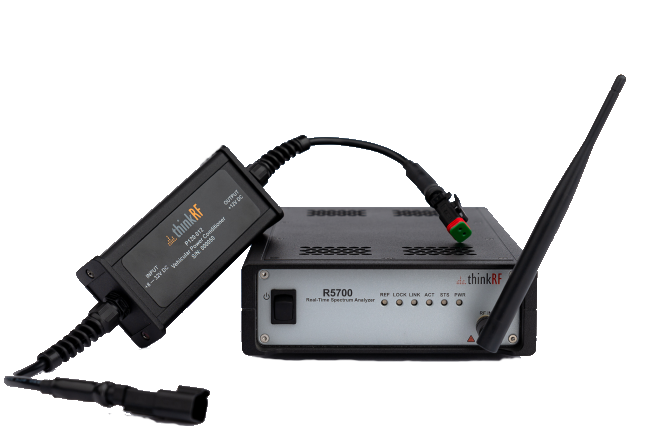 ThinkRF R5700 with P120 Vehicular Power Conditioner