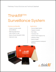 ThinkRF Surveillance System Datasheet