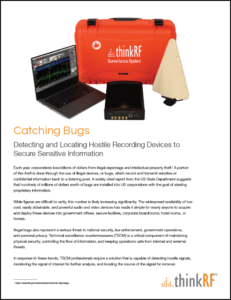 Use Case - Catching Bugs - Detecting and Locating Recording Devices to Secure Sensitive Information